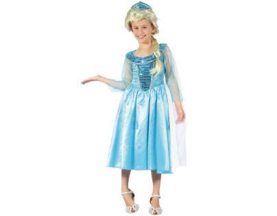 Made Detský karnevalový kostým Ľadová princezná  120 -130 cm