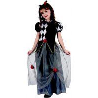 Detský karnevalový kostým princezná šašo M 120 - 130 cm