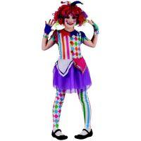 Made Detský karnevalový kostým šašo dievča  120-130 cm