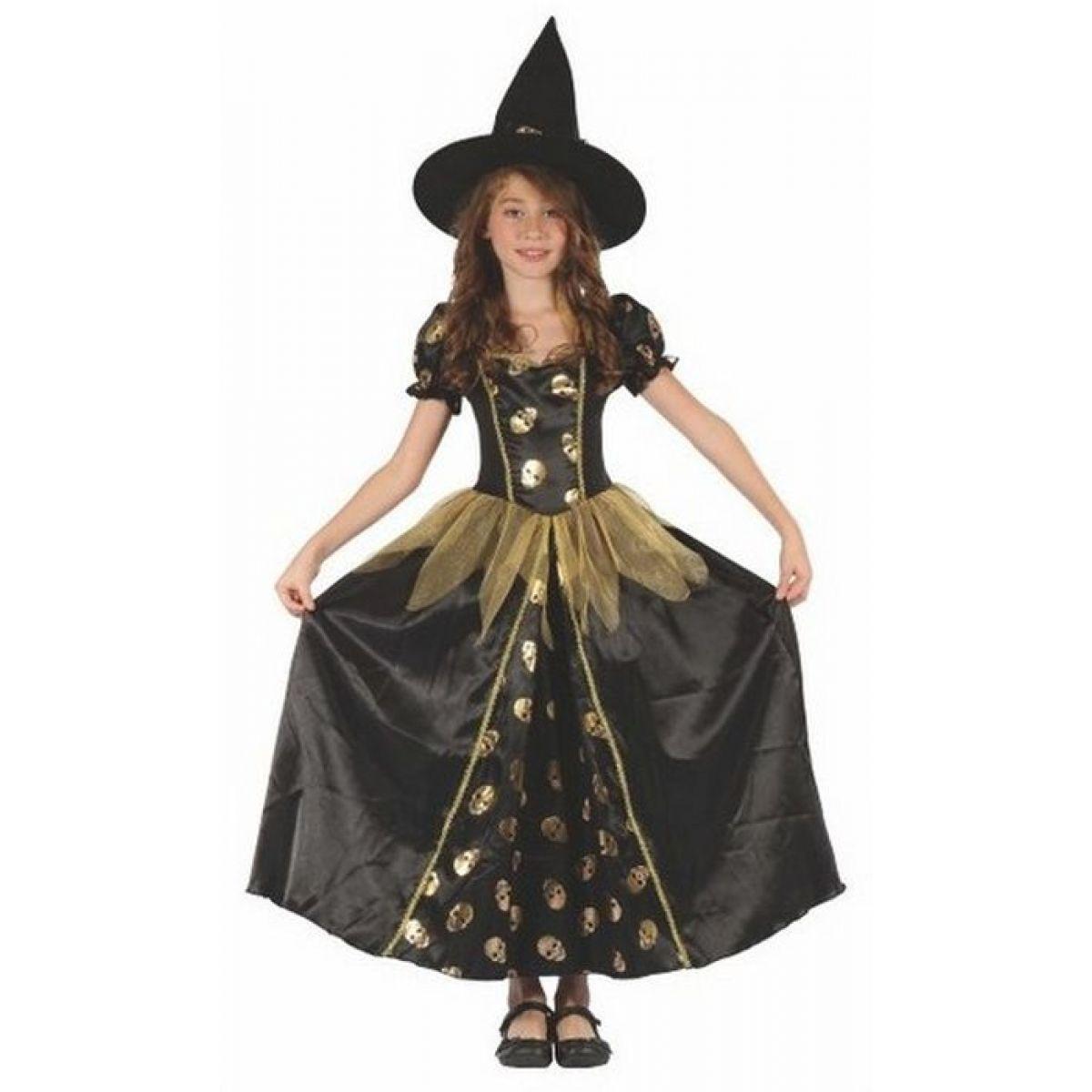 Made Detský kostým Čarodejnica lebka 110-120 cm