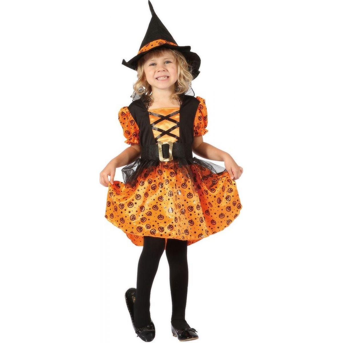 Made Detský kostým Čarodejnica oranžová 92-104cm