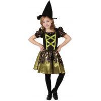 Made Detský kostým Čarodejnica zelená 110-120cm