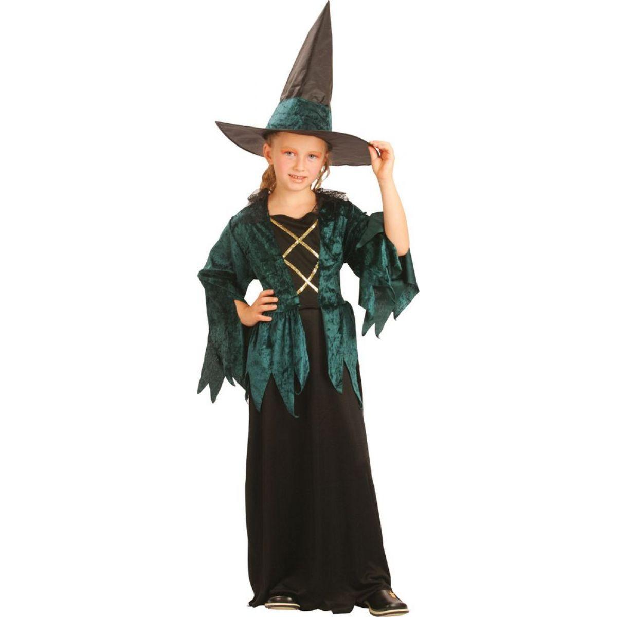 Made Detský kostým Čarodejnica veľ. M 120-130 cm