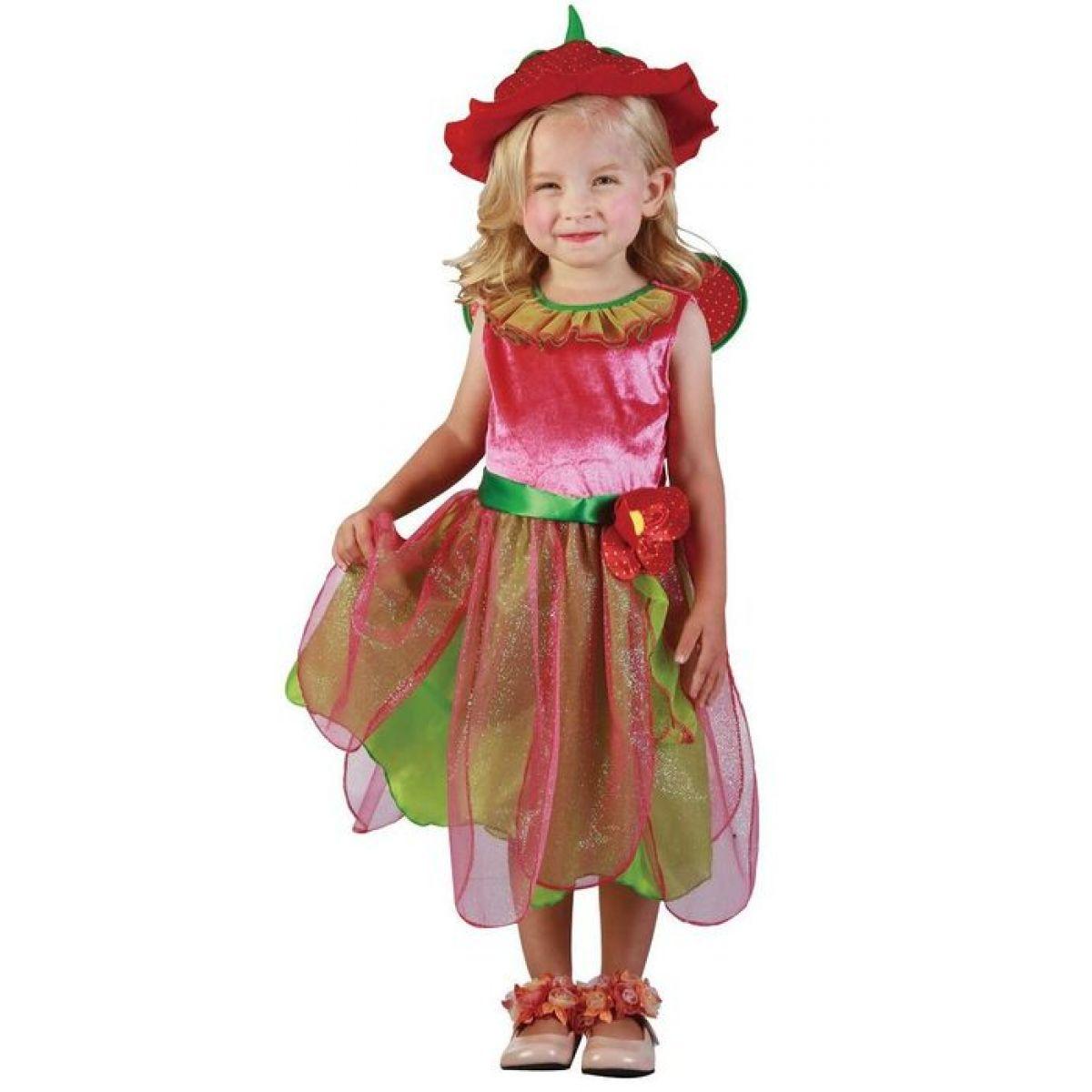 Made Detský kostým Jahodová víla 92-104 cm