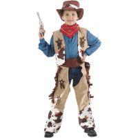 Made Detský kostým Kovboj béžová 120-130 cm