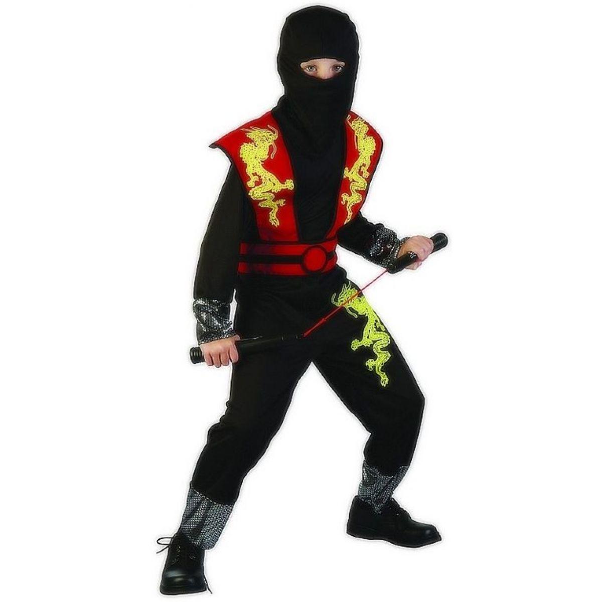 Made Detský kostým Ninja červený 120-130 cm