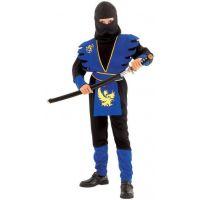 Made Detský kostým Ninja modrý 120-130 cm