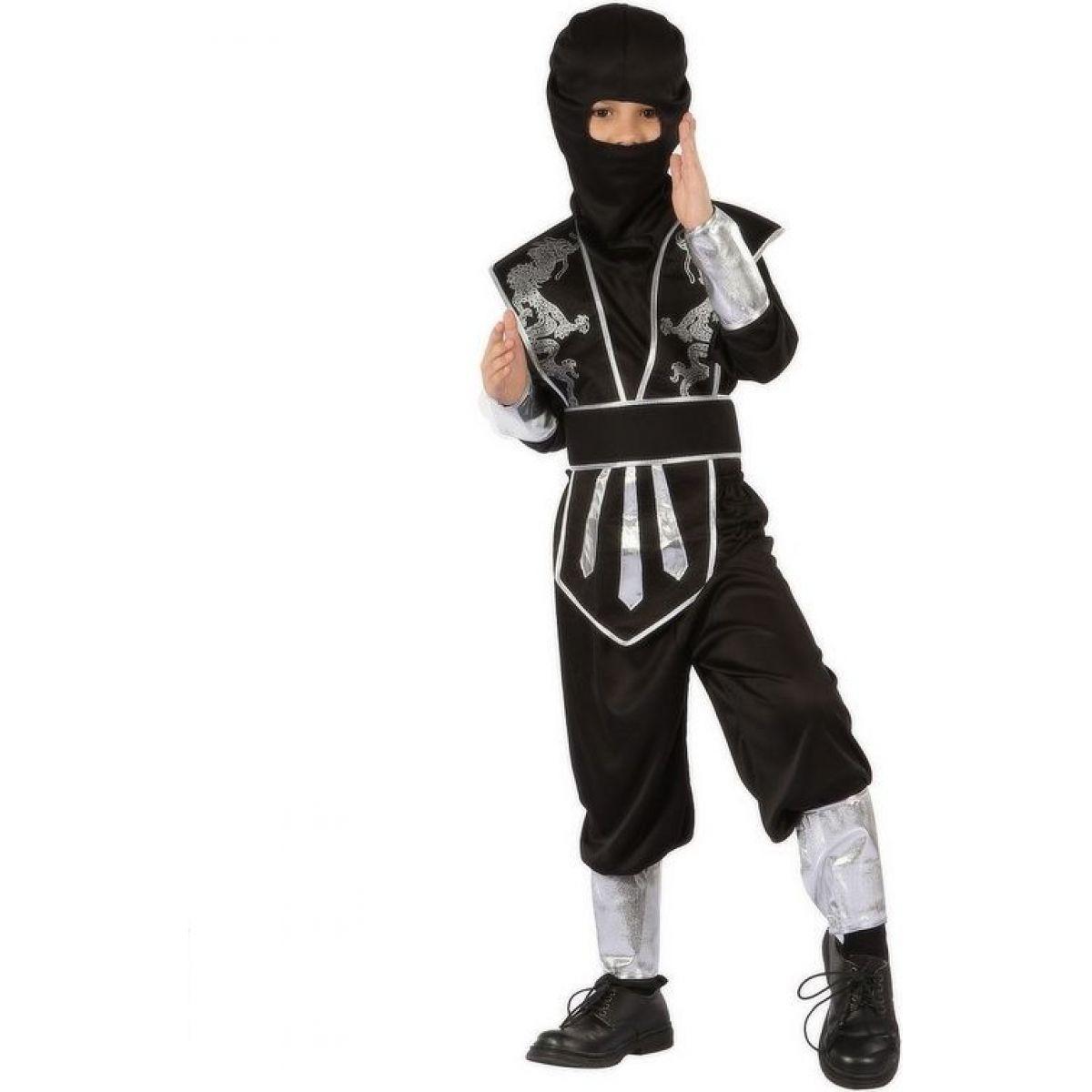 Made Detský kostým Ninja v čiernom 130-140 cm