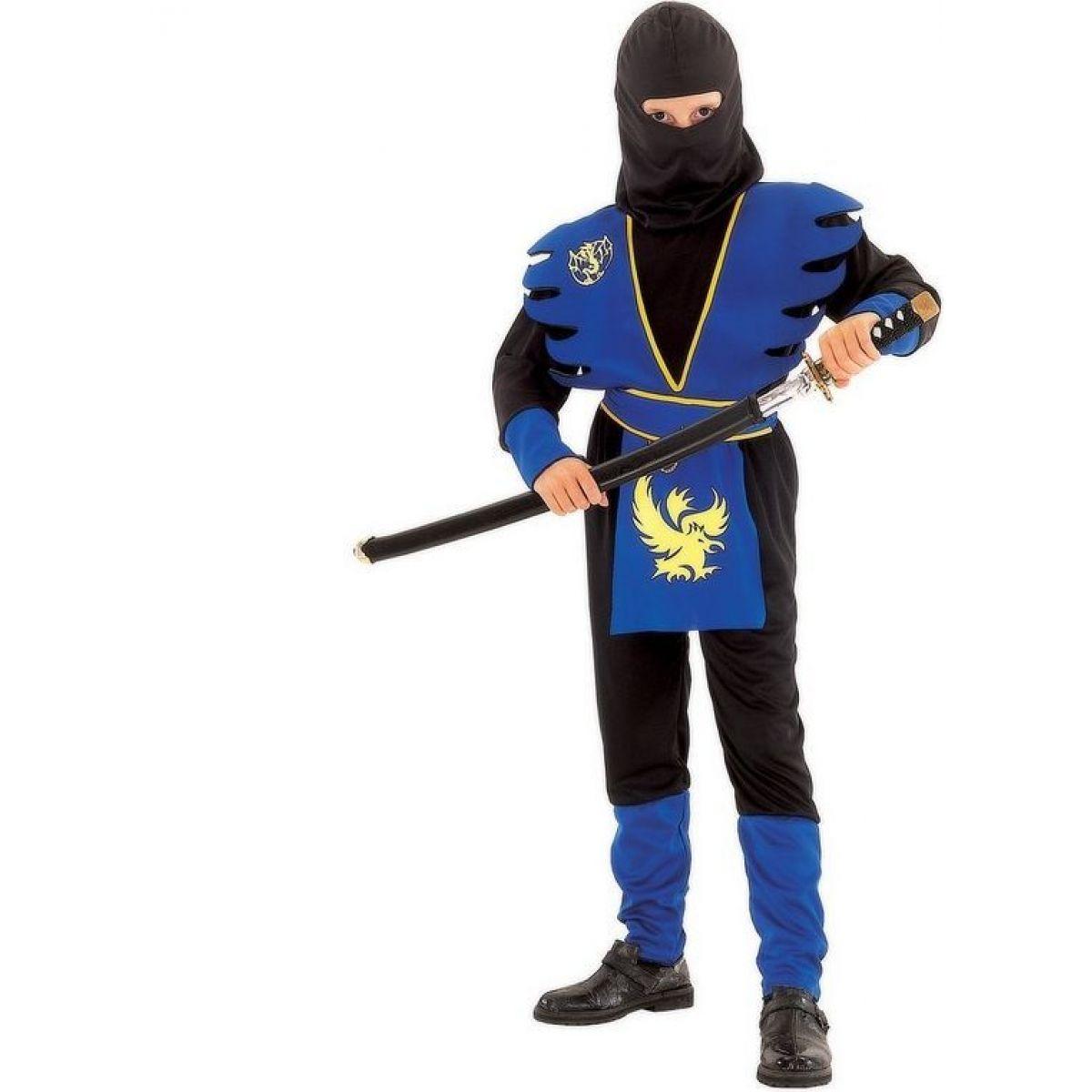 Made Detský kostým Ninja v modrom 130-140 cm