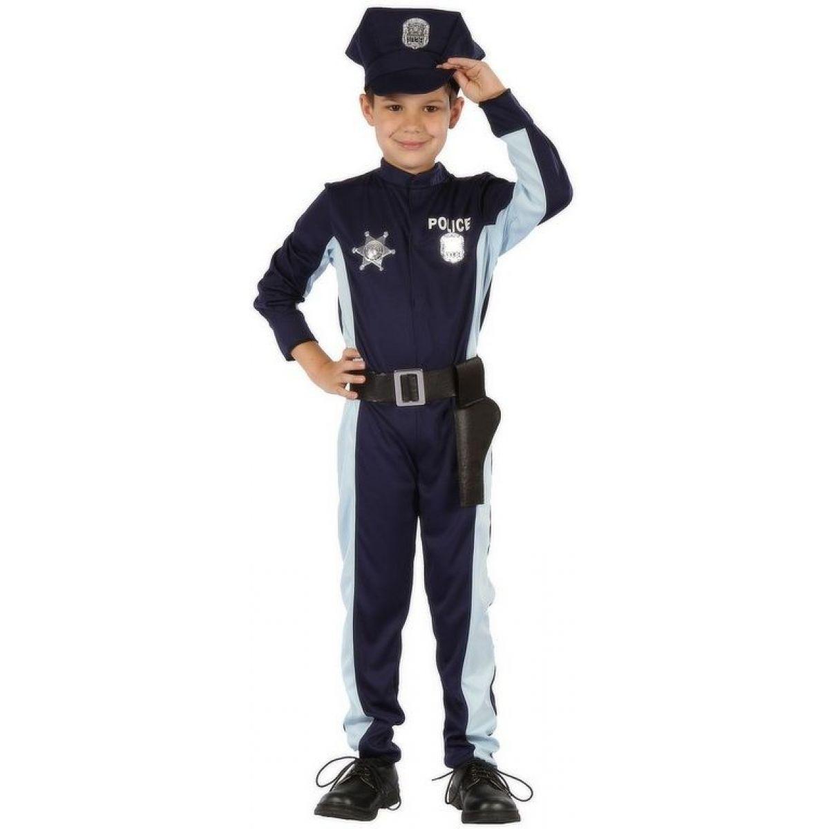 Made Detský kostým Policajt s čapicou 120-130 cm