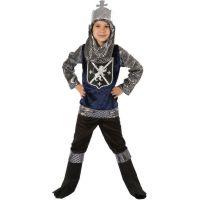 Made Detský kostým Rytier strieborný 110-120cm