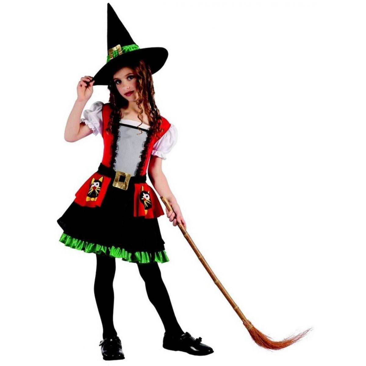 Karnevalový kostým čarodejnica pre deti 120-130 cm
