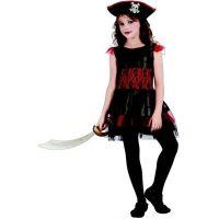 Made Karnevalový kostým pirátka pre deti 120-130 cm