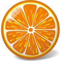 Made Lopta pomaranč 23 cm 2