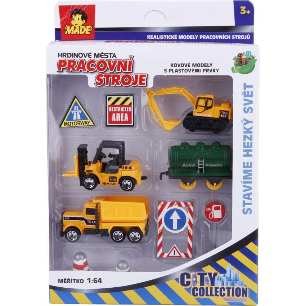MaDe Sestava se stavebními auty 87717 - Poškozený obal
