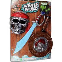 Made Súprava pirátska na batérie s mečom 45 cm