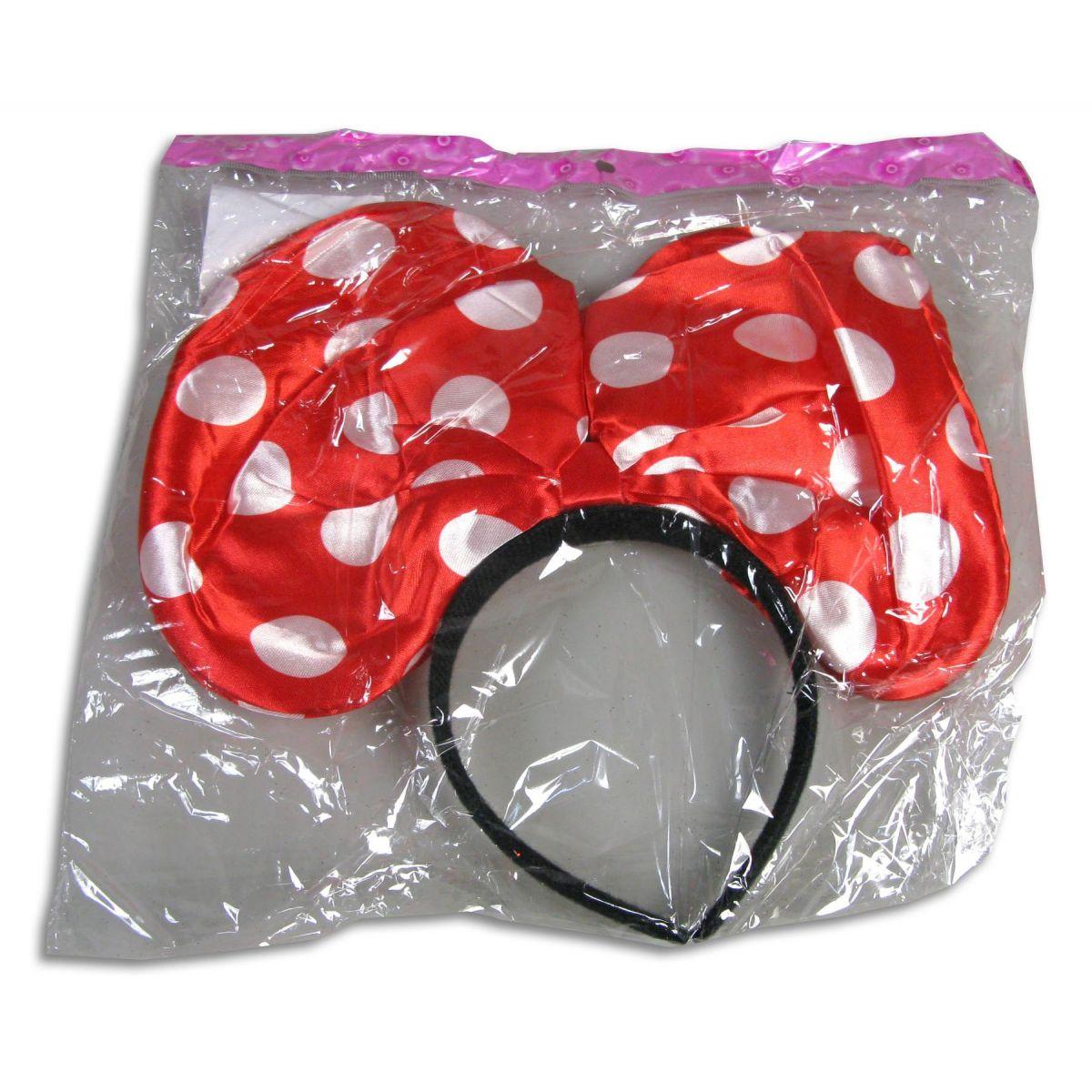 Made Svietiace uši myšky Minnie červené
