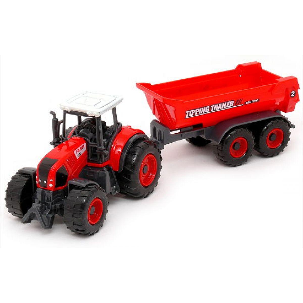 MaDe Traktor s prívesom 27 cm Valník Tipping Trailer