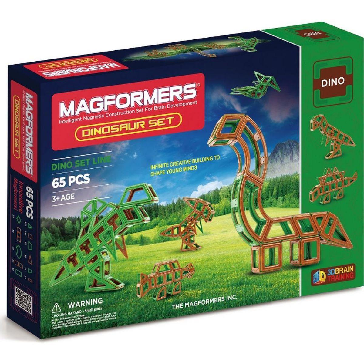 Magformers Dinosauři 65 dielikov