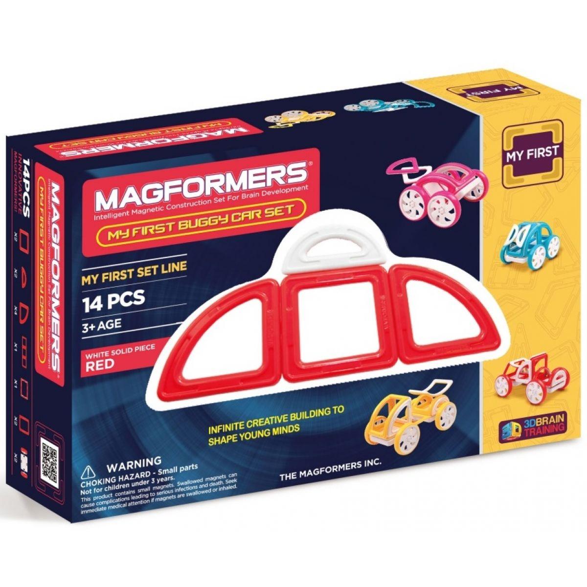 Magformers Moje první bugy červené 14 dielikov