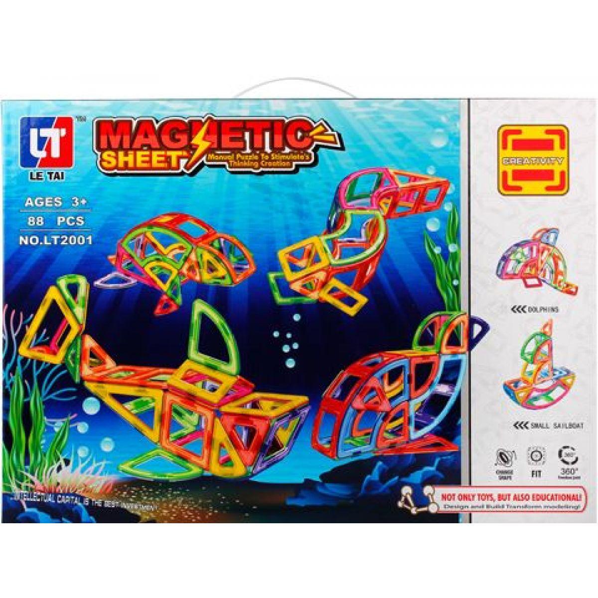 Magnetická stavebnica Magnetic Sheet 88