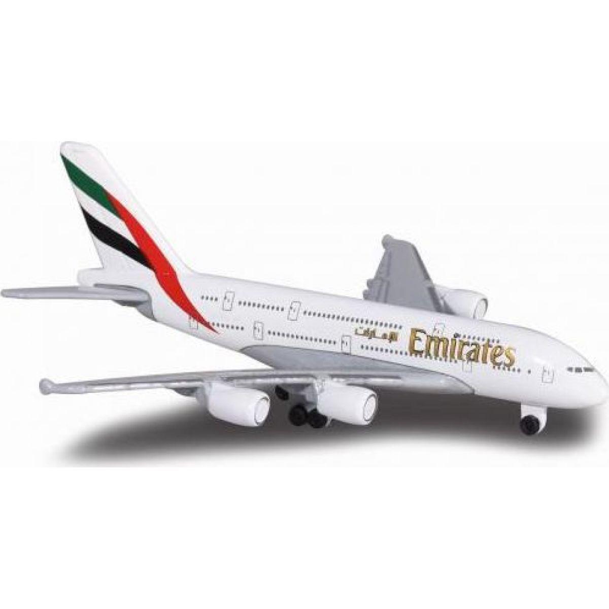 Majorette Lietadlo 13cm Emirates A380-800