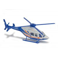 Majorette Vrtulník kovový 13 cm BELL 429 Modro-bílá Záchranka