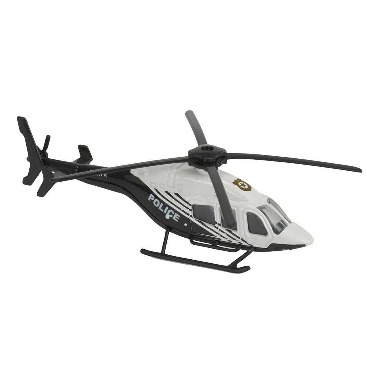 Majorette Vrtuľník kovový 13 cm H 145 Striebornomodrá Polícia