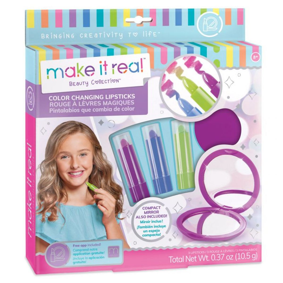 Make it real Lesky na rty měnící barvu 3 ks
