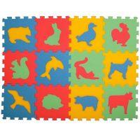 Malý Génius Pěnové puzzle koberec Zvířátka 12ks