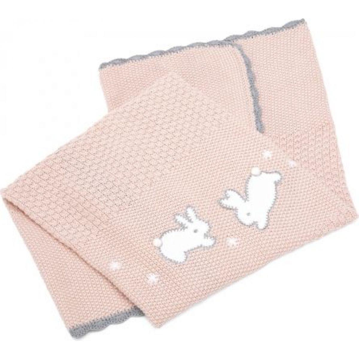 Mamas & Papas Pletená deka Králici růžová