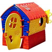 Domček Dream House - červenožltý