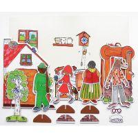 Marionetino Červená čiapočka scéna s figurkami 2