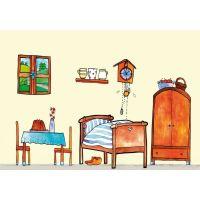 Marionetino Červená čiapočka scéna s figurkami 4