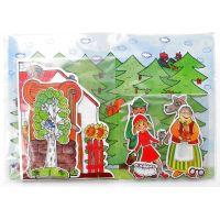 Marionetino Červená čiapočka scéna s figurkami 5