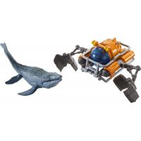Matchbox Jurský svět Dino transportéři Mosasaurus Sea Sub