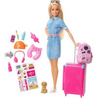 Mattel Barbie cestovatelka blondýnka Barbie