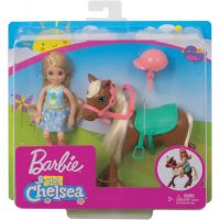 Mattel Barbie Chelsea a poník tm.hnedá 2