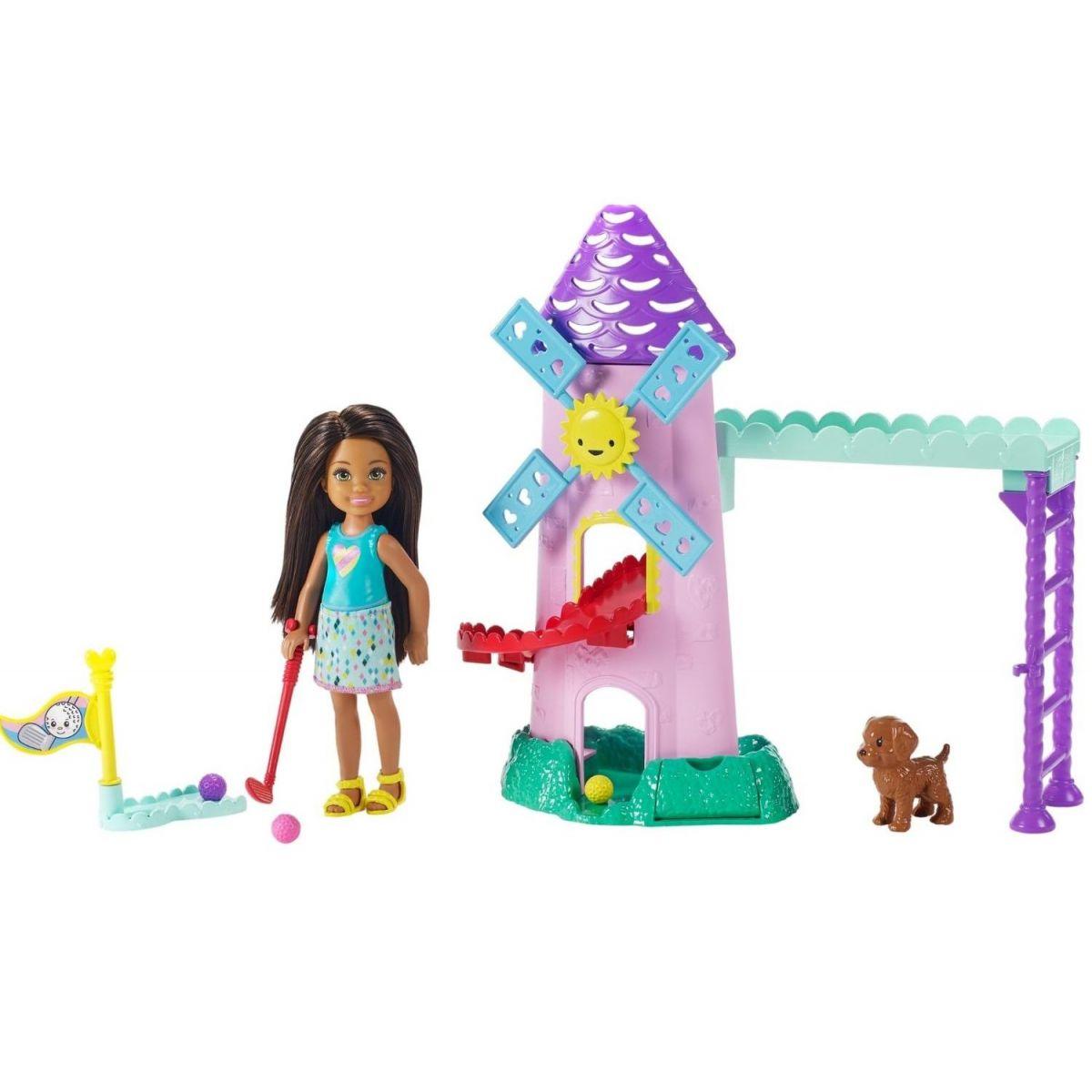 Mattel Barbie Chelsea s doplnkami veterný mlyn
