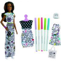 Mattel Barbie D.I.Y Crayola Vybarvování šatů Černoška