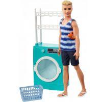 Mattel Barbie Ken s nábytkem pračka