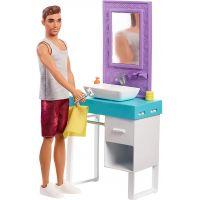 Mattel Barbie Ken s nábytkom umývadlo 2