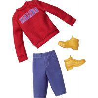 Mattel Barbie Kenovy oblečky červená mikina Malibo