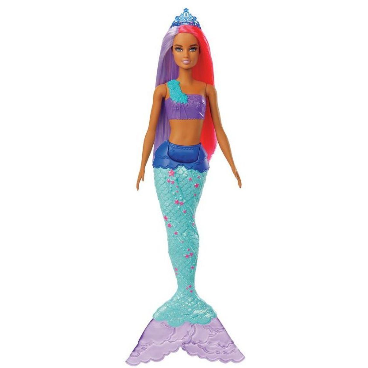 Mattel Barbie čarovná morská víla vlasy fialovo-červené