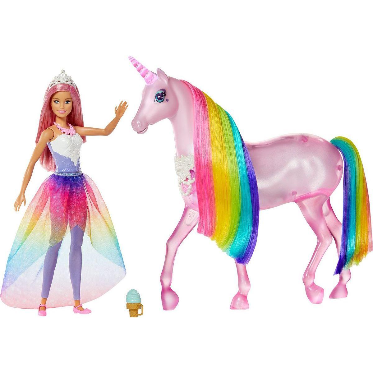 Mattel Barbie čarovný jednorožec a bábika
