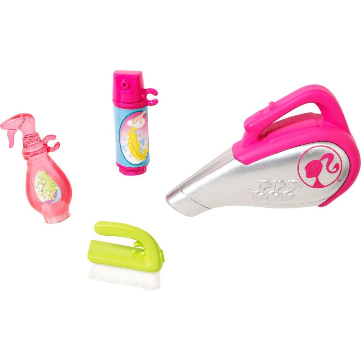 Mattel Barbie mini doplňky Vysavač s doplňky