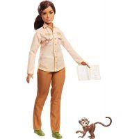 Mattel Barbie povolání National Geographic panenka ekoložka a opice