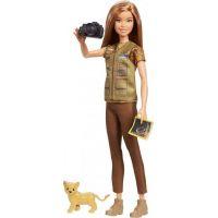 Mattel Barbie povolání National Geographic panenka fotografka a lvíče