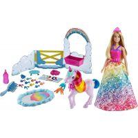 Mattel Barbie princezná a dúhový jednorožec herný set  - Poškodený obal