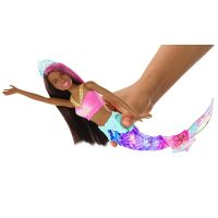 Mattel Barbie svietiace morská panna s pohyblivým chvostom černoška 3